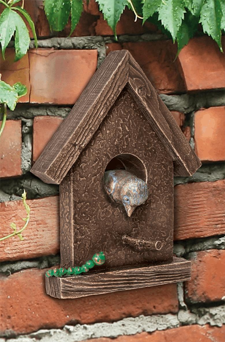 Bronzefigur Vogelhäuschen von Atelier Strassacker