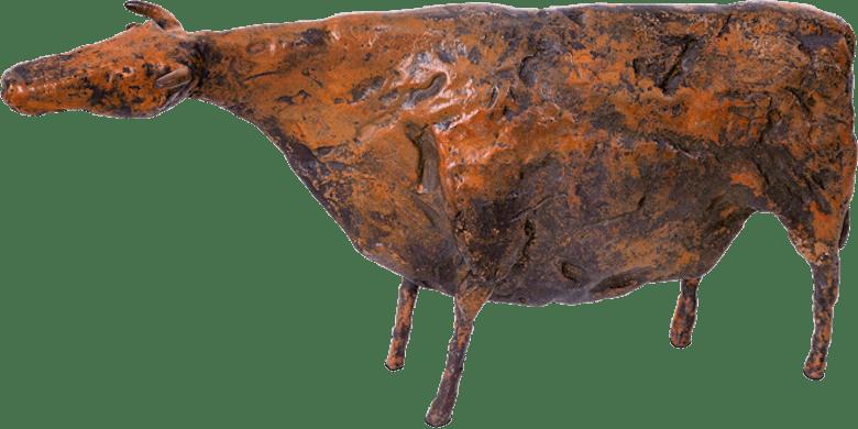 Bronzefigur Kuh von Hermann Schwahn