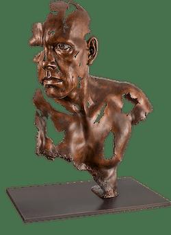 Bronzefigur Face to Face von Jamie Salmon