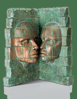 Bronzefigur Ruine von Giraud