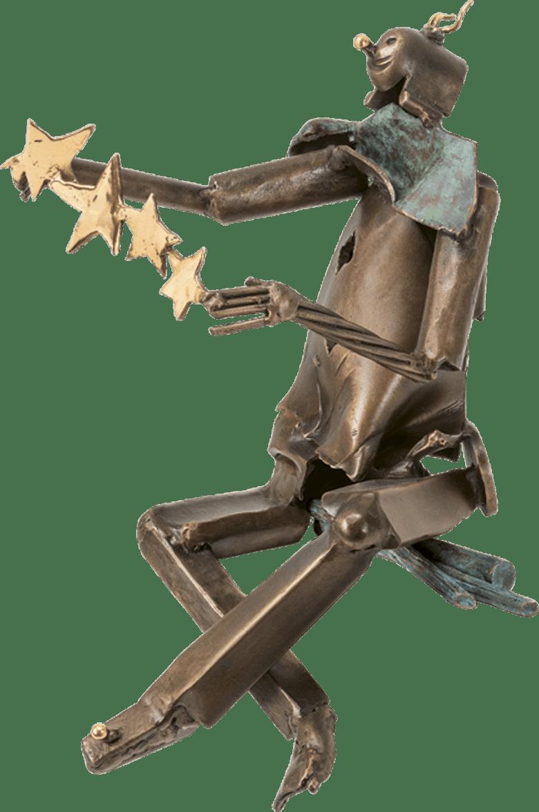 Bronzefigur Clown von Ulrich Barnickel