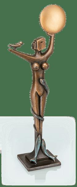 Bronzefigur Schutzgöttin der Natur von Heinz Rupp