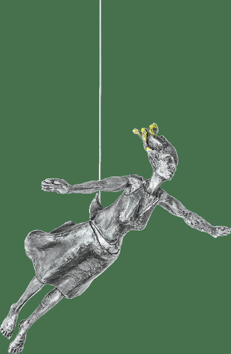 Bronzefigur Freefall (her) von Michal Trpák