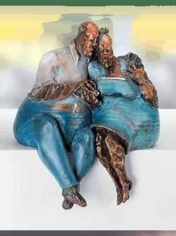Bronzefigur Verbundenheit von Roucka