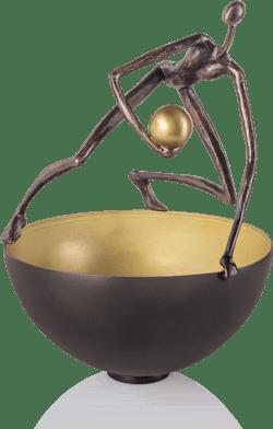 Bronzeskulptur-Schale