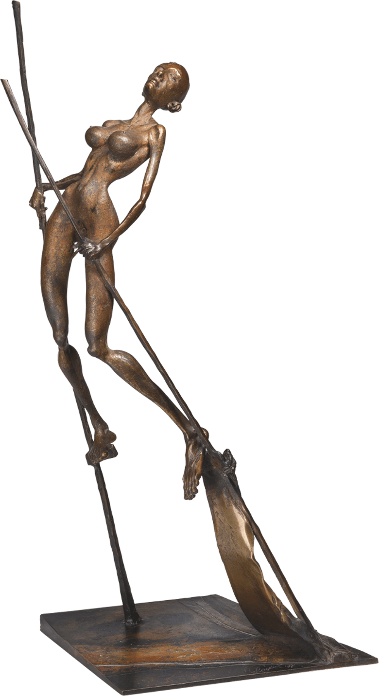 Bronzefigur Die Königin von Woytek