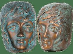Bronzefigur Set Wegbegleiter II von Maria-Luise Bodirsky