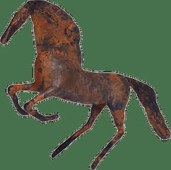 Bronzefigur Steigender Hengst von Hermann Schwahn