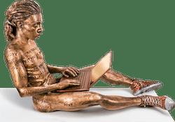 Bronzefigur Online Romance (Man) von Michal Trpak