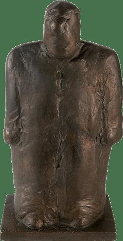 Bronzefigur MANN-TEL von Hermann zur Strassen