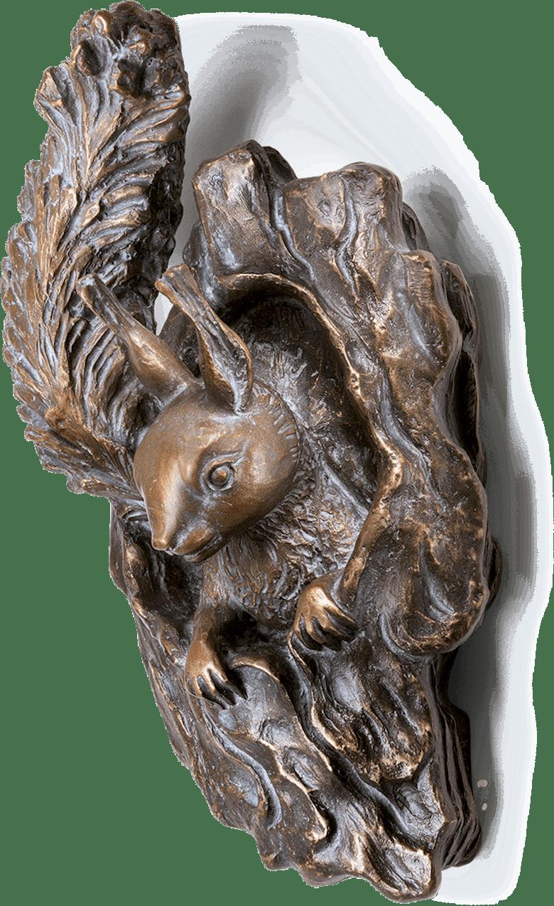 Eichhörnchen - aus Astloch schauend