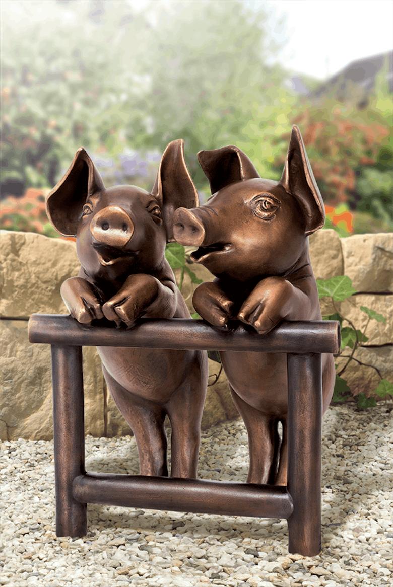 Bronzefigur Beste Freunde von Atelier Strassacker