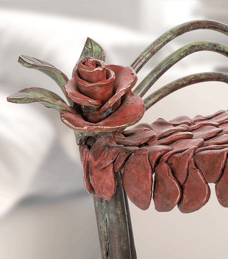 Bronzefigur Bed of Roses von Beth Newman-Maguire