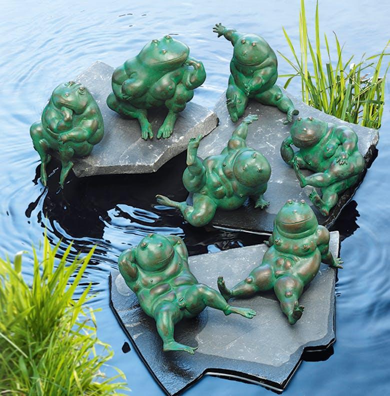 Bronzefigur Frösche Set von Atelier Strassacker