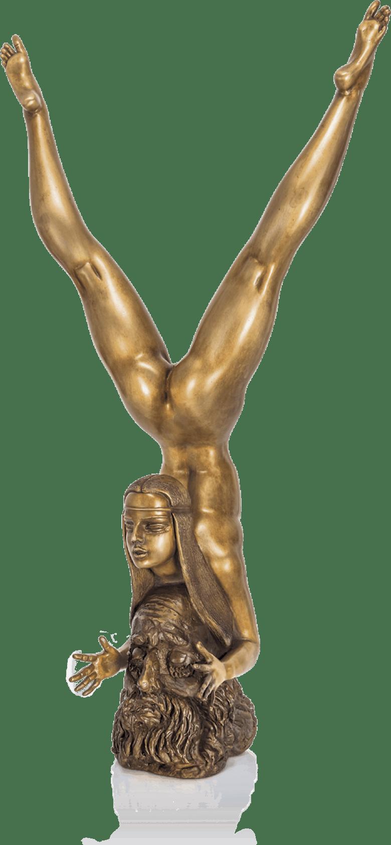 Bronzefigur Poet und Muse von Waldemar Schröder