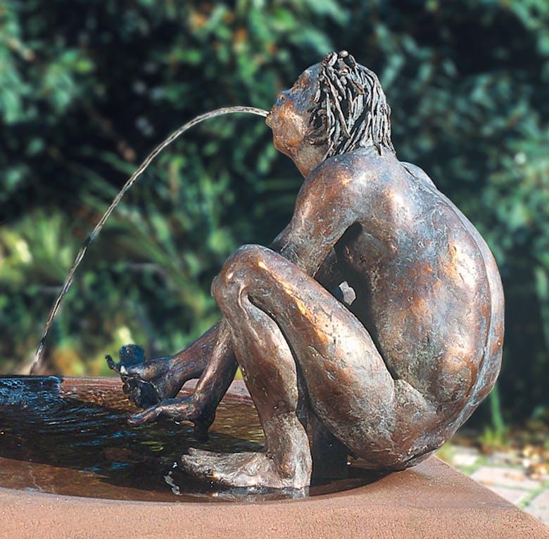 Bronzefigur Der Nix von Kurt Grabert