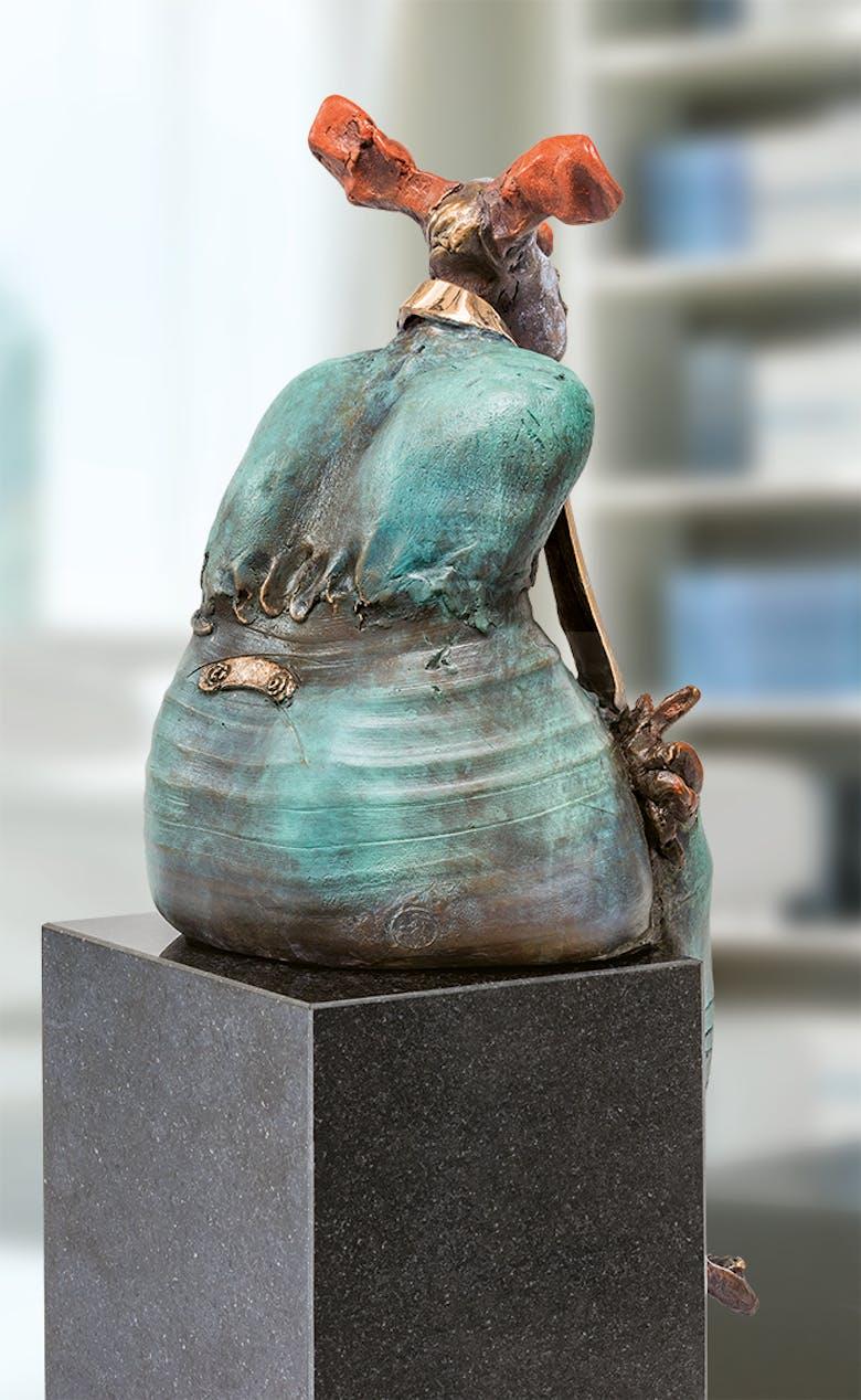 Bronzefigur Clown von Eva Roucka
