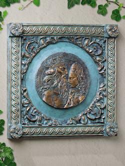 Bronzefigur Adam und Eva von Ernst Fuchs