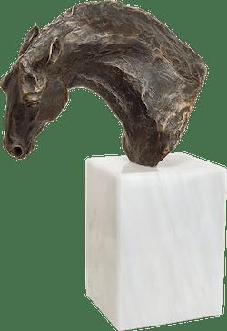 Bronzefigur Barockes Ross von Gabriele Haslinger
