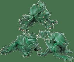 Bronzefigur Set Laubfroschhochzeit von Atelier Strassacker