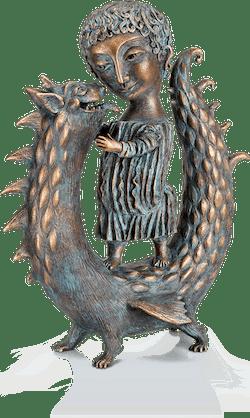 Bronzefigur »Georgs Kindheit« von Elya Yalonetski