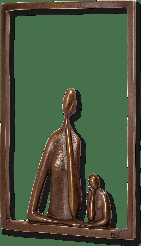 Bronzefigur Pour moi doux von Marie-Madeleine Gautier