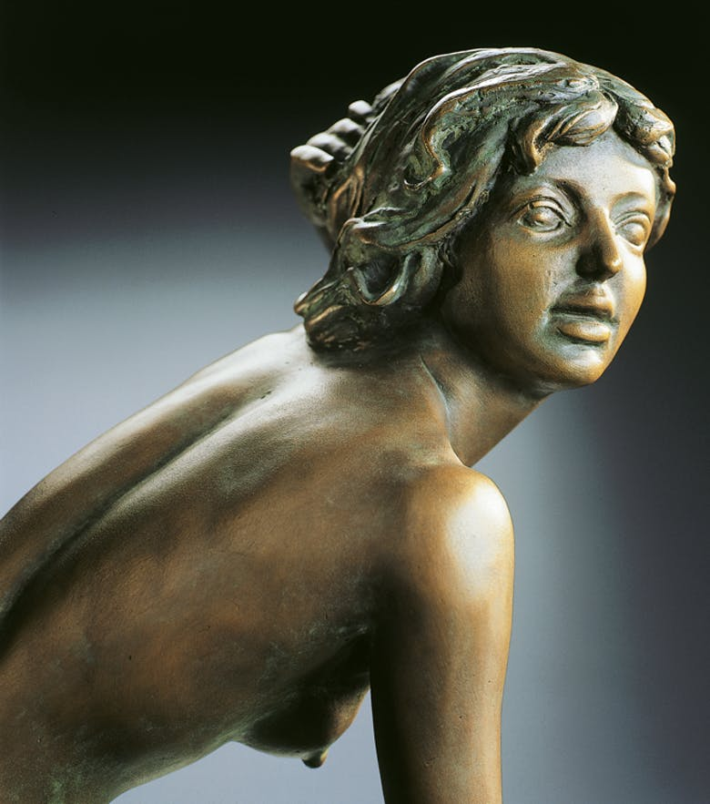 Bronzefigur Sonnige Stunden von Erwin A. Schinzel