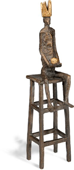 Bronzefigur Kleiner König von Marianne Mostert
