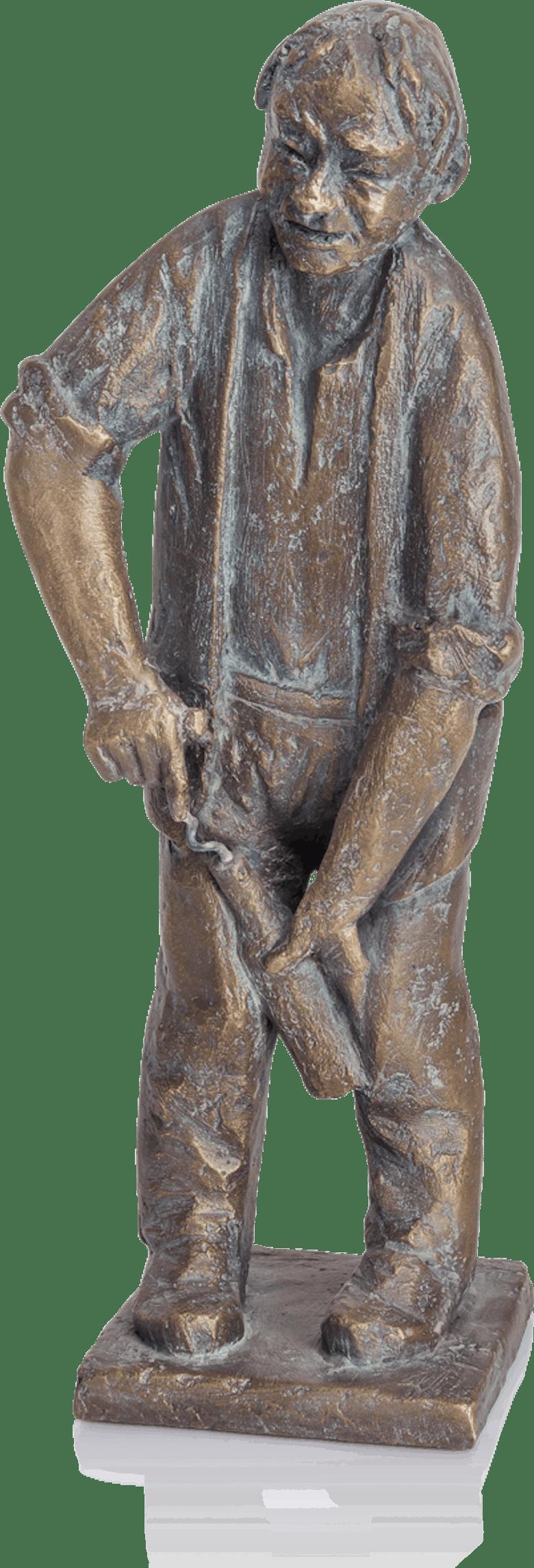 Bronzefigur Korkenzieher von Theophil Steinbrenner