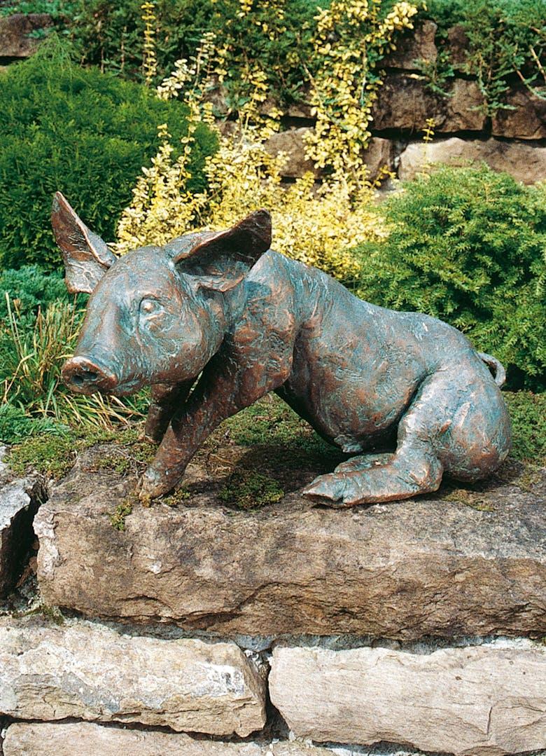 Bronzefigur Schwein von Kurt Tassotti