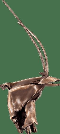 Bronzefigur Chevre von Ulrich Barnickel