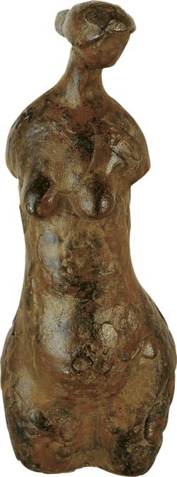 Bronzefigur Torso von Hermann Schwahn