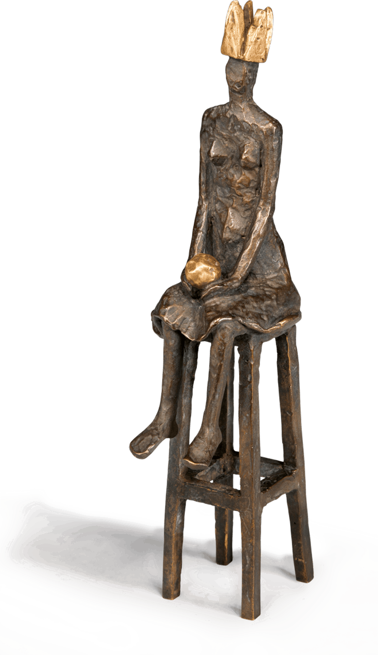 Bronzefigur Kleine Königin von Marianne Mostert