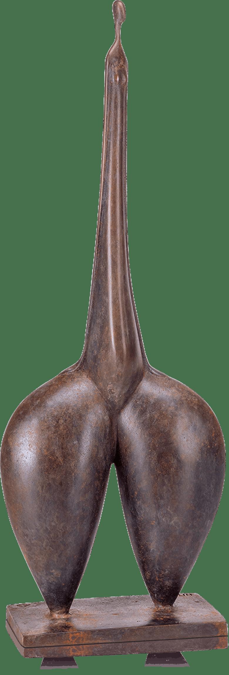 Bronzefigur Elle donne von Marie-Madeleine Gautier