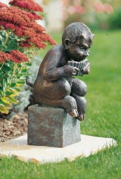 Bronzefigur Pan von Theophil Steinbrenner
