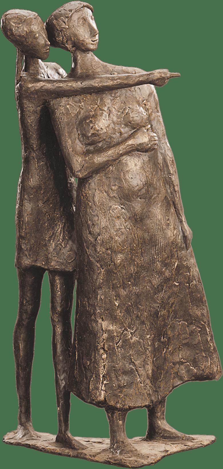 Bronzefigur Zeigen von Manfred Welzel