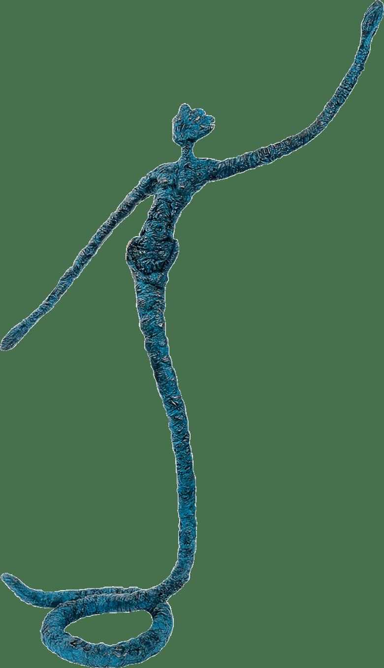 Bronzefigur Schlangentanz von Claudia Seidel
