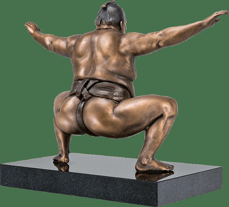 Bronzefigur »Sumo« von Jamie Salmon