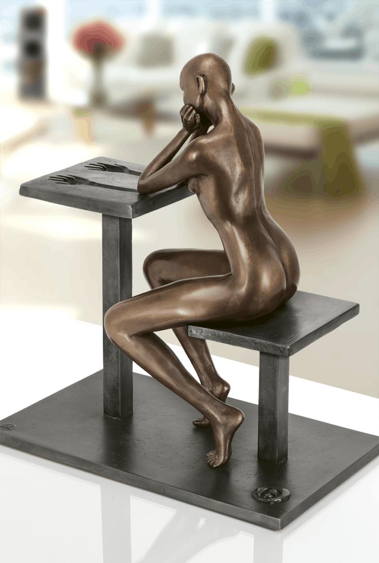 Bronzefigur Empreinte von Daniel Giraud