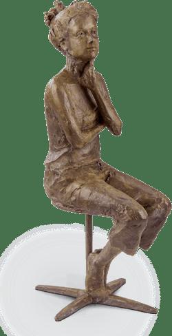 Bronzefigur »Was wäre wenn« von Valerie Otte