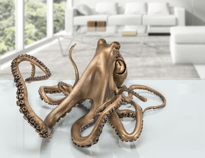 Bronzefigur Octopus von Viktor Palus