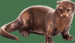 Bronzefigur Fischotter von Atelier Strassacker