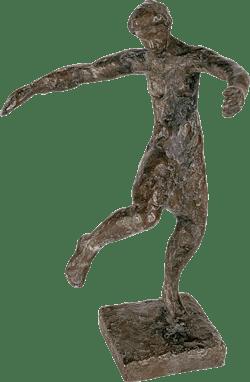 Bronzefigur In sich versunken von Roland Bischofberger