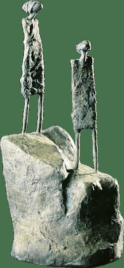 Bronzefigur Der, der sich nähert von Miguel Sanoja