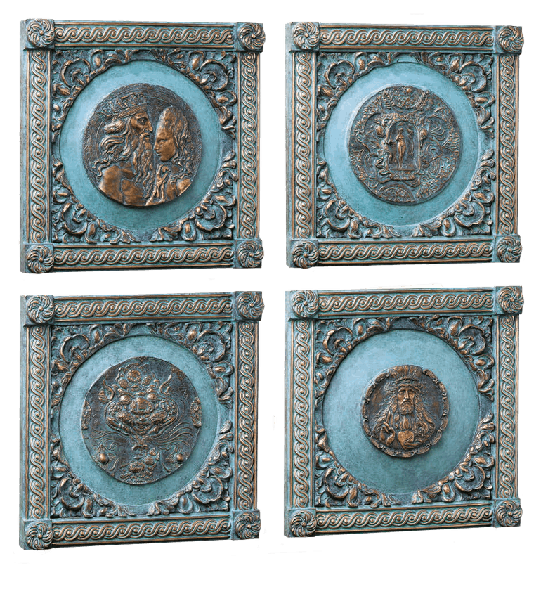 Bronzefigur Biblische Gestalten von Ernst Fuchs