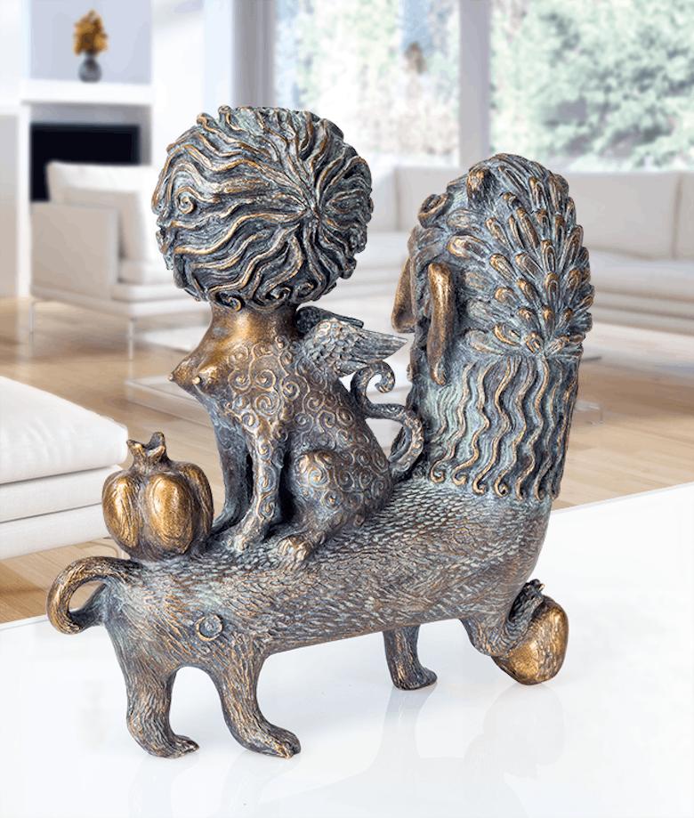 Bronzefigur Enigma eterna von Elya Yalonetski