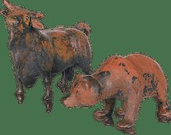 Bronzefigur Bulle & Bär von Kurtfritz Handel