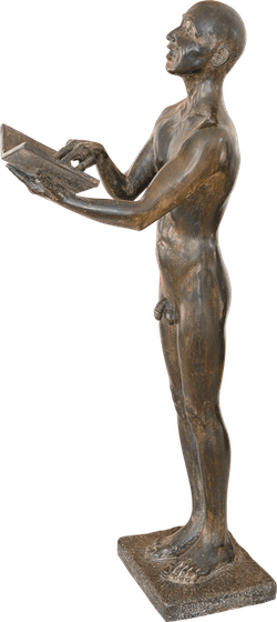 Bronzefigur Der Sänger von Rüdiger Schwenk