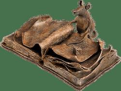 Bronzefigur Le Rat de Bibliothèque von Agnès Boulloche