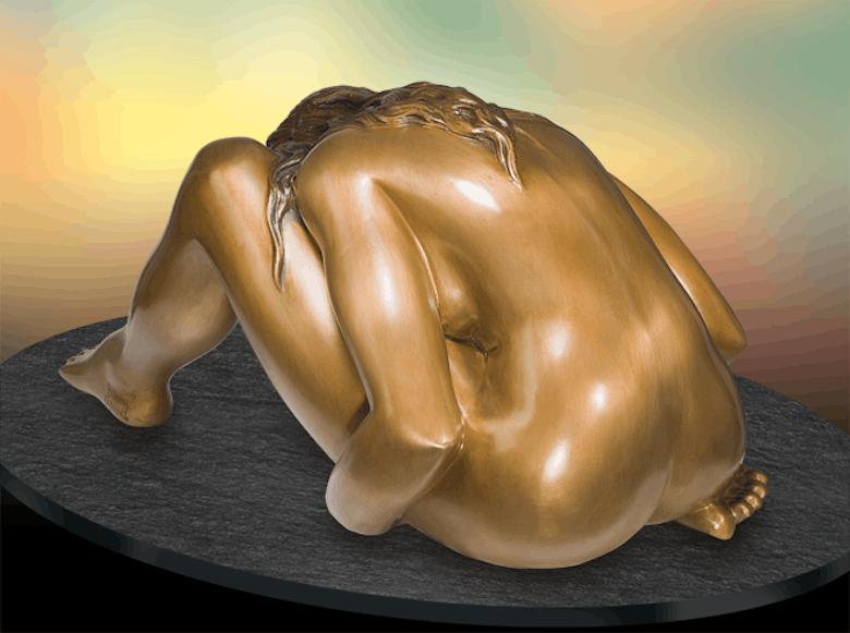 Bronzefigur Donna che si guarda von Bruno Bruni